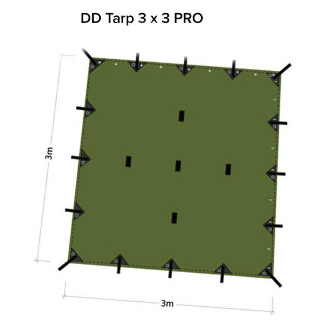 Dd Tarp Pro 3 X 3 M Olive Green