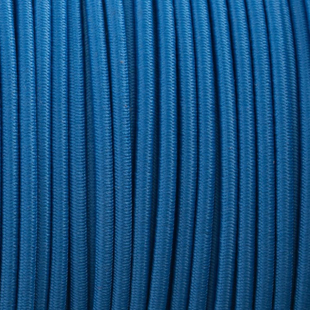 Colonial Bleu - Cordon Élastique 2 mm