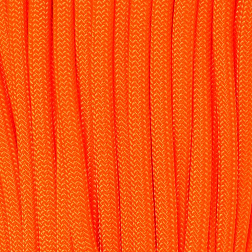 Neon Orange Polyester Paracorde Type III